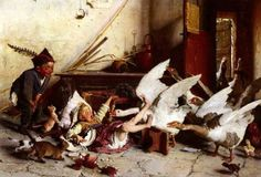 Patatrach! by Italian painter Gaetano Chierici..1838-1920