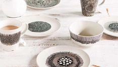 Ceramics  : Painted crockery using a Porcelaine marker
