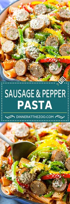 Five Approaches To Economize Transforming Your Kitchen Area Sausage And Pepper Pasta Recipe Italian Sausage Recipe Sausage And Peppers Easy Pasta Yummy Pasta Recipes, Soup Recipes, Dinner Recipes, Cooking Recipes, Grilled Italian Sausage, Italian Sausage Recipes, Sausage And Peppers Pasta, Sausage Pasta, Pot Pasta