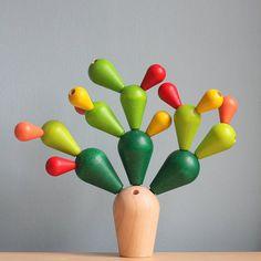 Plan Toys balancing cactus game