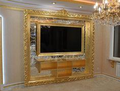 Dream Furniture, Luxury Furniture, Interior Exterior, Luxury Interior, Tv Wall Panel, Wooden Storage Sheds, Tv Wall Design, Framed Tv, Fireplace Design