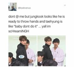 Jungkook ain't gonna back down if he starts fighting. His fists are no joke