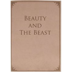 LIBRE MUTI Beauty and the Beast notebook ($31) ❤ liked on Polyvore featuring home, home decor, stationery, books, filler, brown, extras and backgrounds