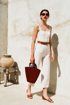 STAUD - Mongo Jumpsuit in Ivory