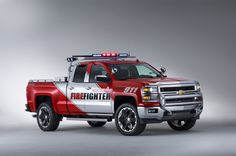Chevrolet Unveils Firefighter & Black Ops Concepts Based On The 2014 Chevy Silverado Gm Trucks, Cool Trucks, Chevy Trucks, Fire Trucks, Pickup Trucks, Muddy Trucks, 6x6 Truck, Chevrolet Silverado, Chevrolet Tahoe