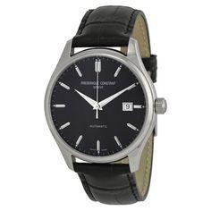 Frederique Constant Classic Automatic Black Dial Black Leather Men's Watch FC-303B5B6 (W-FC-303B5B6)