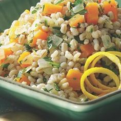 Butternut & Barley Pilaf - EatingWell.com
