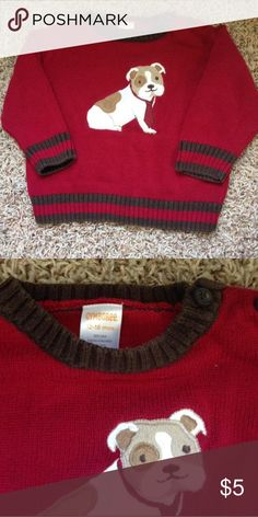 Gymboree Puppy Sweater Adorable red puppy sweater from Gymboree. Gymboree Shirts & Tops