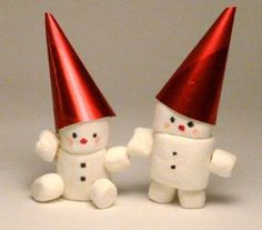 Make Vintage Marshmallow Snowmen