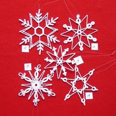 Do you like to crochet? Do you like giving gifts to friends and family that you have made yourself? You will enjoy trying these patterns out. These beautiful snowflakes make great decorations and beautiful gifts. What you will receive are original patterns written in english, created by Peg, for 5 unique snowflakes. They will arrive via an email .pdf attachment with a key for abbreviations, blocking pattern, and finishing instructions. How you use them is entirely up to you and your…