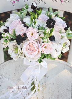 """Купить Букет невесты """"Lightness"""" - разноцветный, букет невесты, букет, свадьба, цветы из глины"""