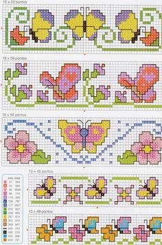 23 σχέδια με πεταλούδες για κέντημα σταυροβελονιά   23 butterfly cross stitch patterns                                     Κάνετε κλικ ...