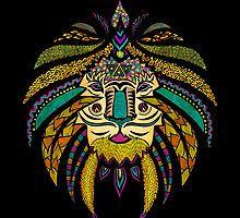 Emperor Tribal Lion Black by Pom Graphic Design
