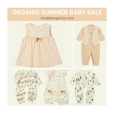 All our summer themed organic baby clothes are discounted and going fast Sale & Contest on organic outfits Organic Baby Clothes, Baby Sale, Summer Baby, Organic Cotton, Kids Fashion, News, June, Collections, Outfits