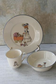 Vintage 1980s 3-Piece Set of Lenox Special China - Child's Place Setting Girl #Lenox