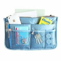 Women Travel Insert Handbag Organiser Purse Large Liner Organizer Tidy Bag Pouch (Blue) by Cosmetic Bag. $8.99. Multiple pockets to classify your personal stuff. Find the most urgent things anytime anywhere. Brand New and high quality. Hangs for easy access. Portable and compact, is easily held in handbag. (1)Brand New and high quality (2)Multiple pockets to classify your personal stuff (3)Portable and compact, is easily held in handbag (4)Find the most urgent things anytim...