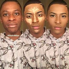 Lawdness his make up is literally perfect Contouring For Beginners, Makeup Tips For Beginners, Black Girl Makeup, Girls Makeup, How To Cut Bangs, Makeup Before And After, Cute Diy Projects, Natural Man, Male Makeup