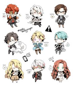 mystic messenger chibis by Tapichu