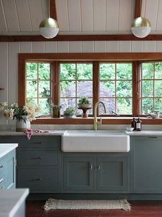 Modern Exterior Paint Colors For Houses Beautiful rustic country kitchen with shiplap walls, brass hardware, and painted French blue cabinets.Beautiful rustic country kitchen with shiplap walls, brass hardware, and painted French blue cabinets. Farmhouse Kitchen Colors, Rustic Kitchen, Kitchen Remodel, Kitchen Design, Kitchen Inspirations, Country Kitchen, New Kitchen, Rustic Country Kitchens, Rustic Kitchen Cabinets