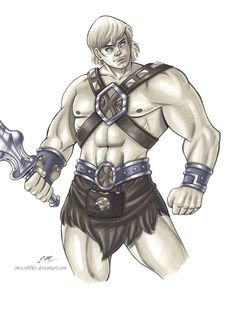 He-Man Commission by em-scribbles on DeviantArt