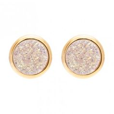 Love these new tiny druzy studs. A great gift price point!