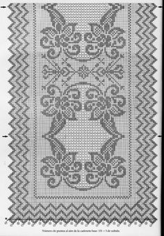 @nika Bargello Quilt Patterns, Bargello Quilts, Doily Patterns, Knitting Patterns, Crochet Patterns, Filet Crochet, Irish Crochet, Diy Crochet, Crochet Stitches