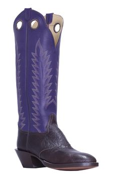 A handmade buckaroo cowboy boot in a top with deep purple kid uppers, chocolate foot and saddle vamps, deep scallop, spur shelf, toe and walking/riding heel. Cowboy Gear, Cowboy Boot, Cowboy Hats, Cowgirl Tuff, Cowgirl Style, Western Style, Buckaroo Boots, Leather Cuffs, Leather Bracelets