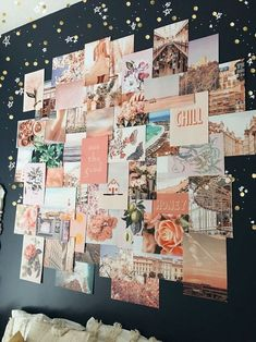 Pink collage kit on black wall – - Wandgestaltung ideen Collage Mural, Photo Wall Collage, Picture Wall, Collage Ideas, Collage Background, Images Murales, Wallpaper Aesthetic, Tumblr Rooms, Aesthetic Room Decor