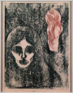 Edvard Munch - Rouge & Noir (1898)