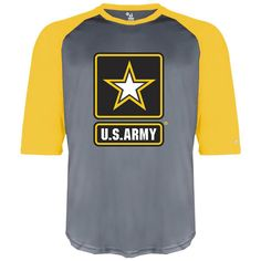 f3649484955 Officially Licensed U.S. Army Star Logo Performance Baseball T-Shirt.  Cutting-edge apparel