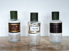 Highly collectable vintage Apothecary bottles with original labels