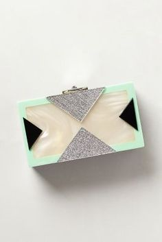 Mother-of-Pearl Box Clutch by: Rafe @Anthropologie (US) #boxclutch #motherofpearl #handbags