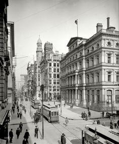 Philly ~ Chestnut Street in 1906. Philadelphia, PA
