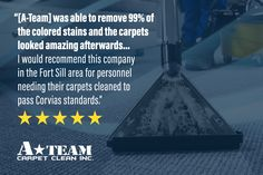 """Client testimonial! I""""'ve seen the van around the installation for move-out cleaning. My experience with this company was an excellent one. I had a few spots on my carpet from wax coloring and the two assigned too my home did an amazing job. The pair was able to remove 99% of the colored stains and the carpets looked amazing afterwards. The pair was very informative about what they were doing and why they were doing it. I know each experience may differ, but I would recommend this company in Move Out Cleaning, Cleaning Hacks, Carpet Repair, Water Damage Repair, Grout Cleaner, Before And After Pictures, Moving Out, How To Clean Carpet, A Team"""