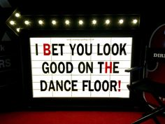 I bet you look good on the dancefloor Cinema Wedding, Wedding Reception, Cinema Sign, Happy Pictures, Happy Pics, Prop House, London Party, Wedding Dress Train, Party Props
