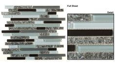 gg15 hampton path | GG15 Hampton Path 12x12 Glass & Granite Mosaic Tile