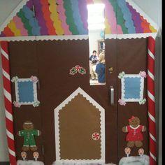 My classroom door last December. The students loved it!