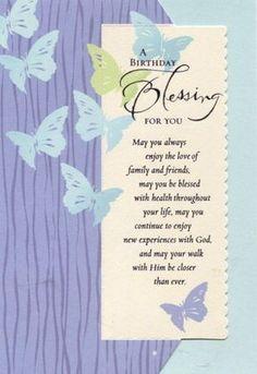 Birthday Blessings Prayer