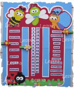 Leskka - Arte em e.v.a Classroom Activities, Activities For Kids, Crafts For Kids, Diy Crafts, Classroom Board, Classroom Decor, Circle Crafts, School Calendar, Kindergarten