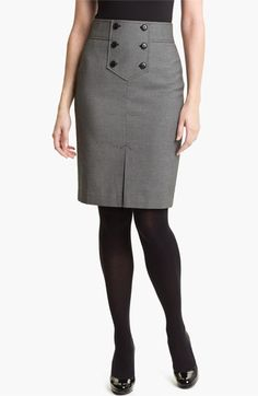 Halogen® Button Trim Pencil Skirt available at #Nordstrom
