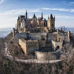 """""""Hohenzollern castle is nestled in the foothills of the Swabian Alps in Baden-Württemberg, Germany. It is not currently abandoned. Beautiful Castles, Beautiful Buildings, Beautiful Places, Chateau Medieval, Medieval Castle, Gothic Castle, Travelling Germany, Germany Travel, Places To Travel"""
