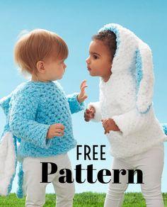 FREE Pattern from Joann.com! Hippity Hop Crochet Bunny Hoodie