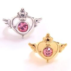 purplevalkyrie:    Sailor Moon SuperS brooch design ring (15750 yen, Premium Bandai)    925 sterling silver with or without 18K gold-plating