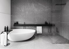 Black, White and Grey Bathroom