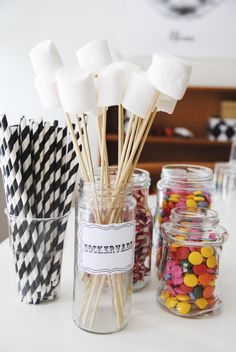 marshmellow sticks... maybe I should use all my random jars... @Kelsey Brockmeyer