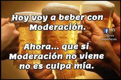 Beber con moderación …