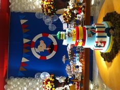 could do the backdrop with poster board 1st Birthday Themes, Man Birthday, Baby First Birthday, Birthday Ideas, Popeye The Sailor Man, Baby Boy Shower, Baby Shower Themes, Cakes For Men, First Birthdays