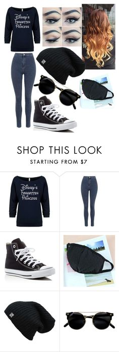 """Untitled #210"" by mama-seokjin92 ❤ liked on Polyvore featuring Topshop and Converse"