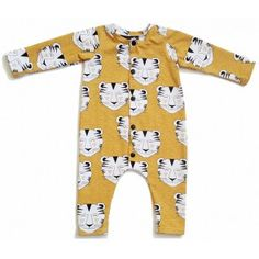Hey BB slaappakje cq boxpakje 'smiley tiger'  - handgemaakt van biologisch katoen. Organic Baby Clothes, Smiley, Onesies, Rompers, Fashion, Moda, Fashion Styles, Romper Clothing, Babies Clothes