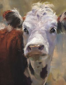 Ears ( Winner, Southwest Art Artistic Excellence Competition Oil Painters of America 2012 National Exhibition) by Daria Shachmut Oil ~ 18 x 14 Paintings I Love, Animal Paintings, Paintings Of Cows, Cow Painting, Painting & Drawing, Cow Pictures, Farm Art, Cow Art, Southwest Art